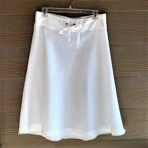 Eileen Fisher White Linen A-Line Skirt Size Large